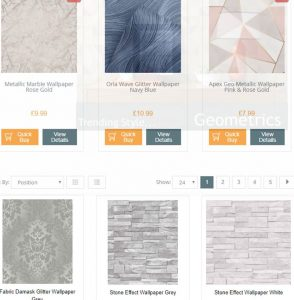 Decorating Centre Online website product page for wallpapers