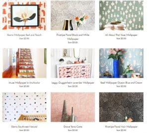 Kate Zaremba Company website product page for wallpapers
