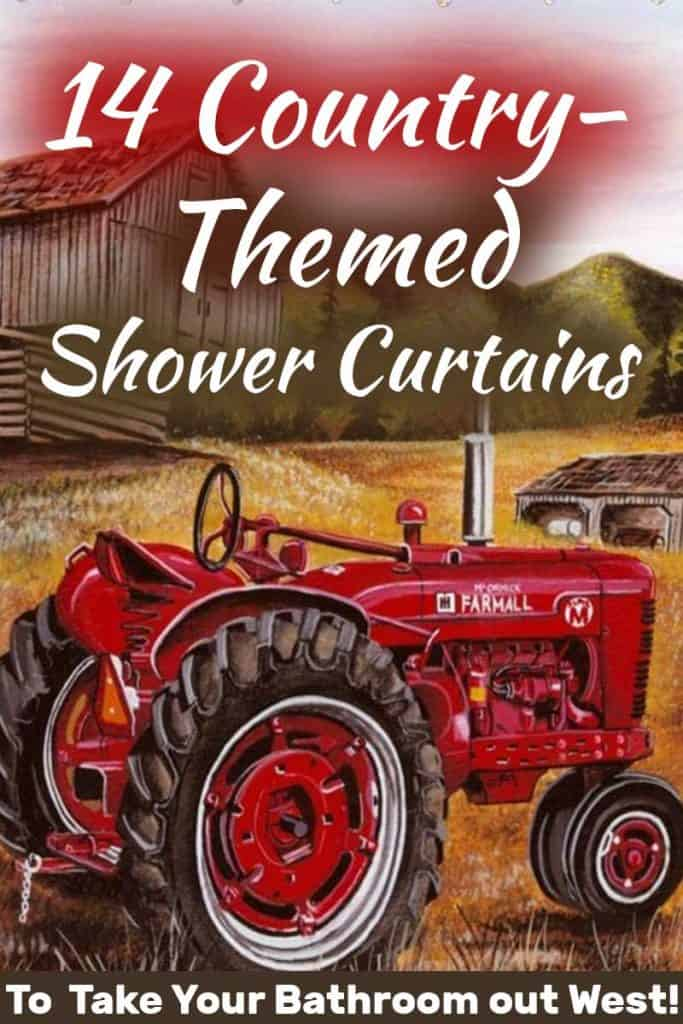 14 Country Themed Shower Curtains You, Country Decor Shower Curtains