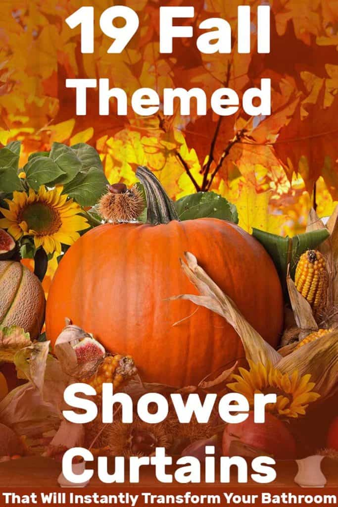 19 Fall-Themed Shower Curtains That Will Instantly Transform Your Bathroom