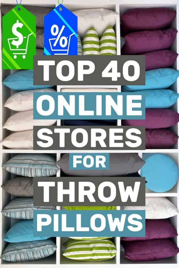 Top 40 Online Stores for Throw Pillows