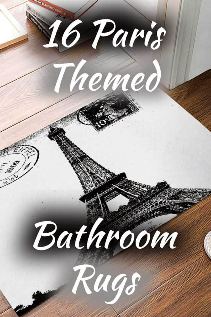 16 Paris-Themed Bathroom Rugs